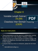 CCNA Cisco Routing Protocols and Concepts Chapter 6 Ppt VLSM CIDR