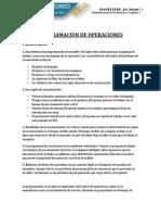 Programacion de Operaciones - Resumen