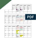 Calendario Práctica