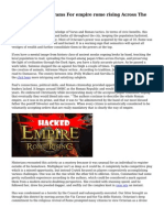 Trouble-Free Programs For empire rome rising Across The USA