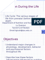 Nutrition During the Life Cycle