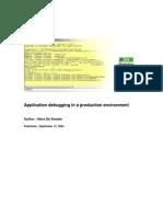 Application Debugging
