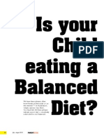 Is Your Child's Diet Balanced?