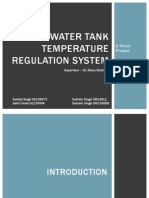 Water Tank Temperature Regulation