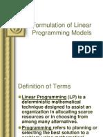 Lecture 01B Formulation of LP Models