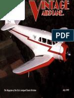 Vintage Airplane - Jul 1992