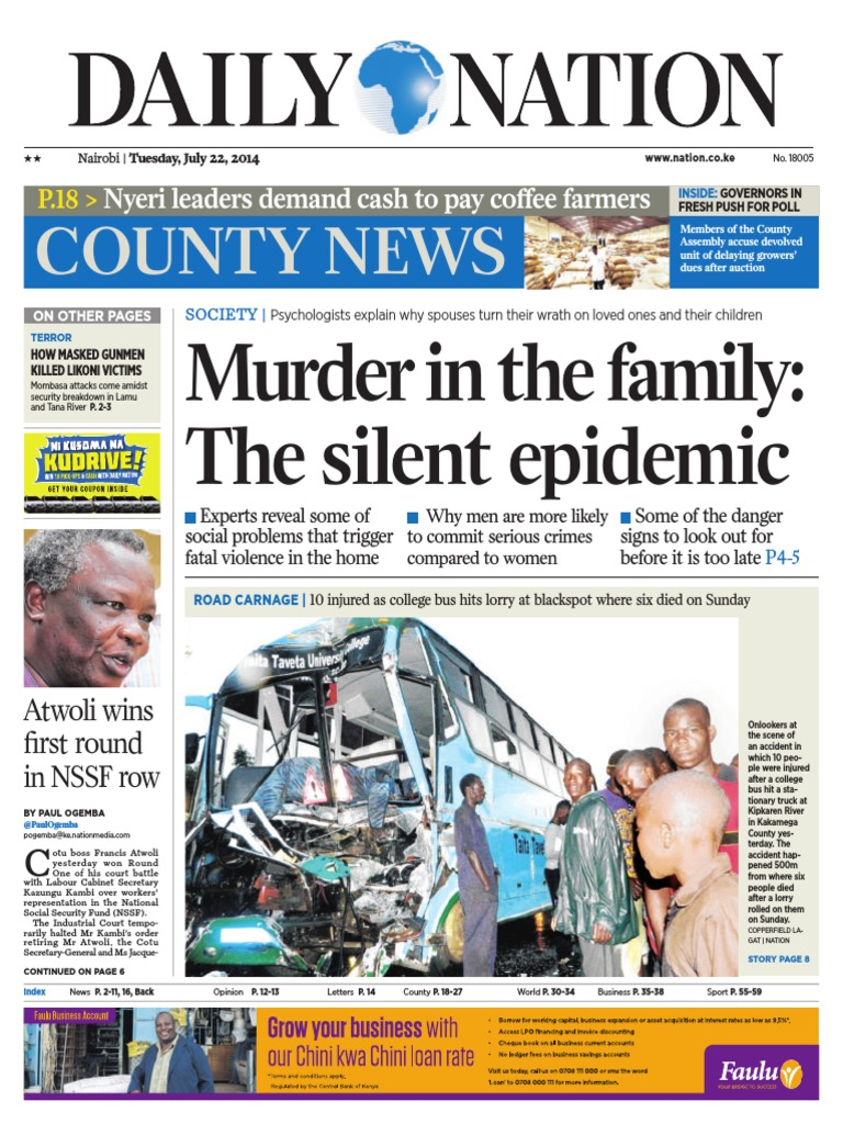 904325bf829dc Daily Nation July 22nd 2014