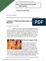 Complex PTSD and Dissociative Disorder