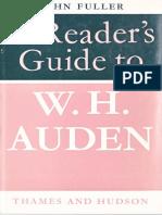 Fuller, John - A Reader's Guide to W.H. Auden - 1970