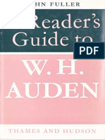 Fuller, John - A Reader's Guide to W.H. Auden - 1970