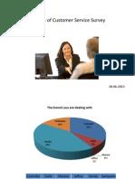 Survey analyse of customer service