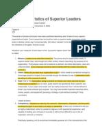 10 Characteristics of Superior Leaders