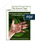 "Master's Essay ""Developing Guidelines on Henna"
