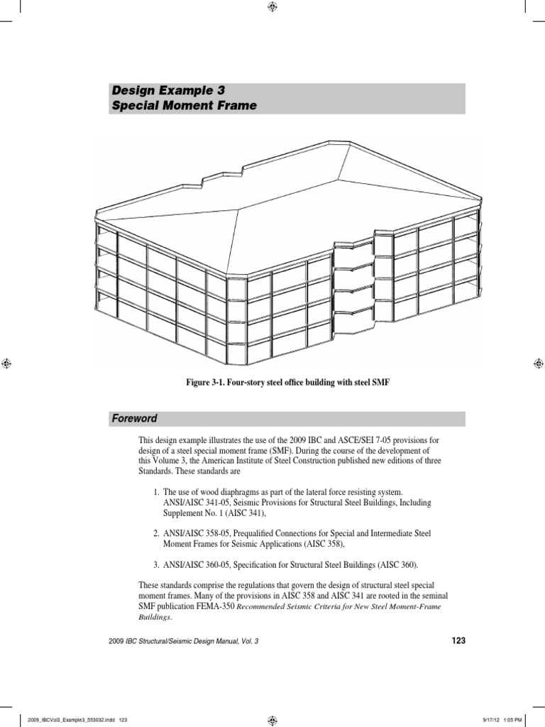 SMF Design Example 3 | Framing (Construction) | Structural Engineering