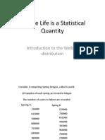 Fatigue Life is a Statistical Quantity