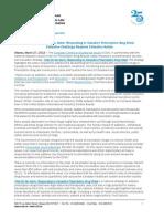 2013 03 Prescription Drug Strategy News Release CCSA