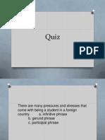 Verbals Quiz