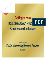 Getting to Know ICSC