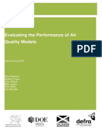 Evaluating the Performance of Air Quality Models