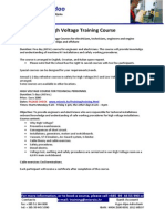 Flyer High Voltage Training Course