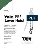 Yale PE2 Lever Hoist - 40192 A