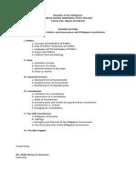 Polgov Course Outline