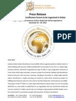 Press release on Logo Inauguration Ceremony of 4th Global Islamic Microfinance Forum 2014 (English)