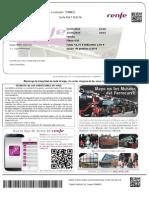 Tren Madrid Santiago 2305 y 2505 Ida y Vuelta