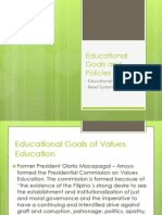 Educational Goals and Policies