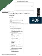 Android Development Tools Installation
