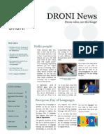 DRONI Newsletter September2013
