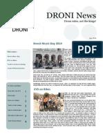 DRONI Newsletter July 2014