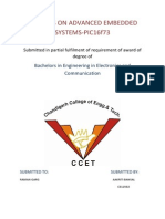 Synopsis on Advanced Embedded Systems