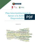 Plan Apoyo Actividad Emprendedora 2014
