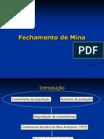 Fechamento de Mina