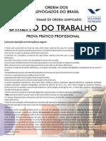 Prática Trabalhista - Caderno de Prova OAB - VII Exame - PR2