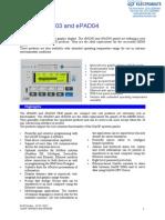 Exor EPAP03 EPAD04 Specsheet