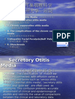 Secretory otitis media