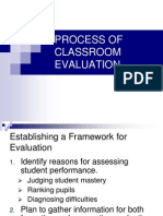 PROCESS OF CLASSROOM EVALUATION
