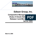 Oracle 10g Release 2 vs SQL Server 2005
