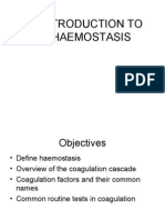 Introduction to Haemostasis