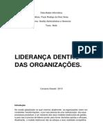 Liderança Dentro Das Organizações - Paulo Rodrigo Da Silva Véras