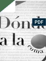 Dónde Va La Coma - Fernando Ávila