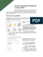 Tareas Básicas Para Una Base de Datos de Escritorio de Access 2013