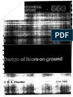 Design of Floors on Ground by J.W.E Chandler