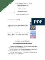 Aulas - SQL Fundamental - Parte 1