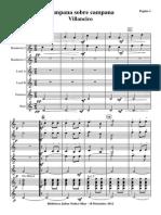 Campana Sobre Campana.orquesta e Instrumentos.solfeo y Cifra