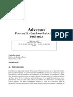 Pérez Soto, Carlos - Adversus Foucault-Laclau-Bataille-Benjamin