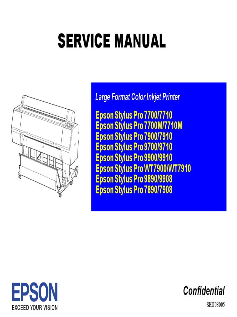 Epson Pro 9880 Service Manual