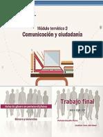 TRABAJO FINAL DE COMUNICACIÓN Y CIUDADANÍA